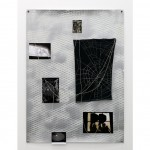 Smash and Grab (2014) pigment inkjet prints, albumen carte-de-visite, photocopy, t-shirt fragment, metallic thread, enamel, brass grommets
