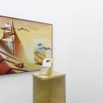 External View (painting) / Cloudbusting (sculpture) ceramics, timber, oil on canvas, mirror Peter John (painting), 1975 / Anna John (sculpture, 2015