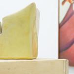 External View (painting) / Cloudbusting (sculpture) ceramics, timber, oil on canvas Peter John (painting), 1975 / Anna John (sculpture), 2015