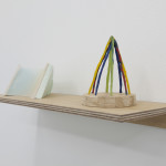 Kettering library once removed 11 (reworked) (left) / Triangle Shape (maypole) (right)plaster, balsa wood, tracing paper, enamel and acrylic paint / beeswax, pigment, wire, glue, woodTom Freeman, 2015