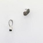 Astronauts and slag rocks (detail)cast sterling silver, slag rockCarla Cescon, 2015