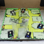 Whodunnit Box (based on Cluedo) suitcase, photocopies, lights, perspex