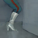 Boot 1, 2013  Oil on canvas paper, 24 x 12 cm
