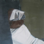 Disappearing Nurse, 2011 Oil on canvas paper, 25 x 15 cm